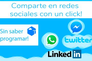 Enlaces para compartir en redes sociales con 1 click