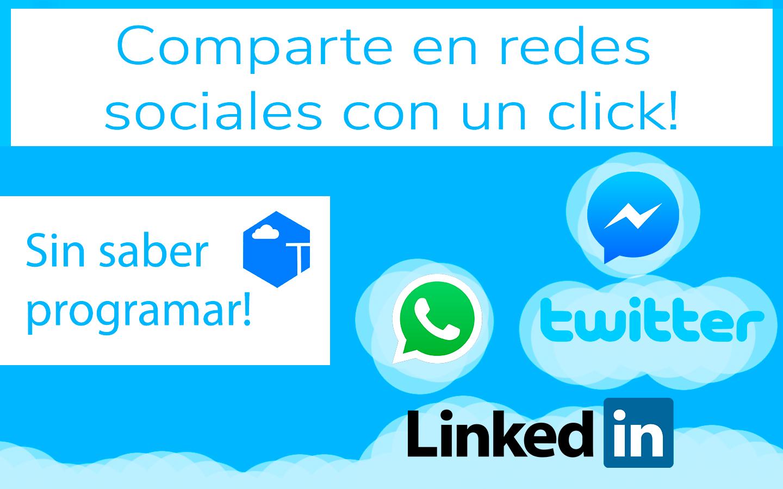 Compartr en redes sociales con click