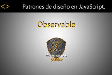 Patrón Observer en JavaScript